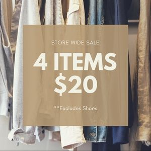 Bundle  4 Items for $20- STORE WIDE SALE